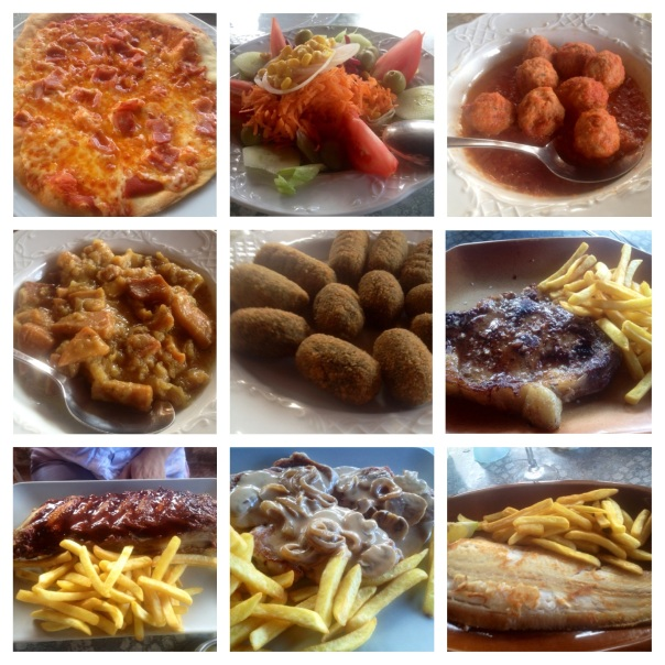 Collage de platos en Galeretes