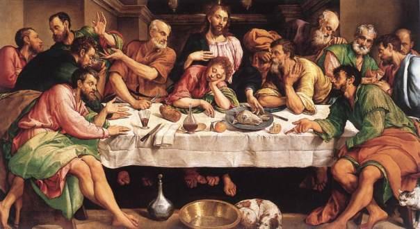 La última cena de Jacopo Bassano