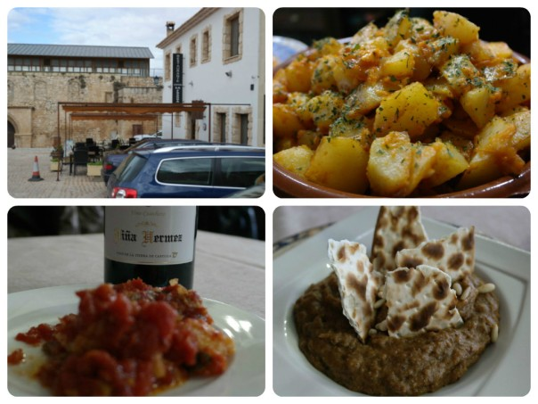 Fragua, patatas, vino, bacalao y morteruelo