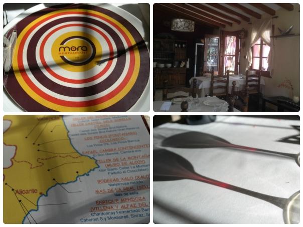Carta, Restaurante, detalle vinos y copas