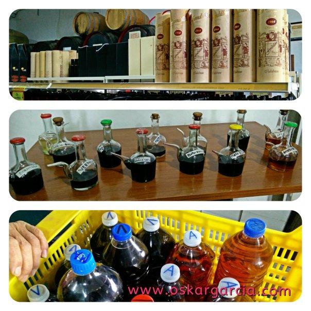 Productos, porrones de prueba y litros a granel