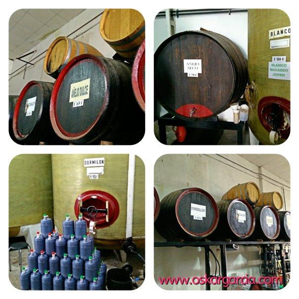 Toneles, garrafas y barricas