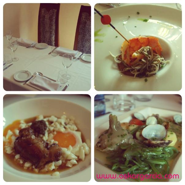 Misteri d'Anna Salón, aperitivo, huevo con foie y alcachofas con almejas