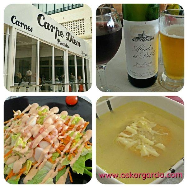 Carpe Diem, Bebidas, Ensalada, Sopa de cebolla